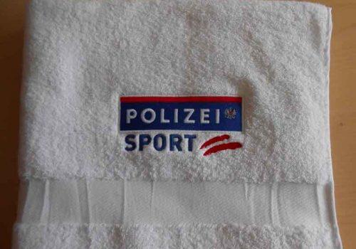 Handtuch Polizei Sport