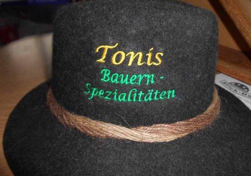 Hut – Tonis Bauernspezialitäten