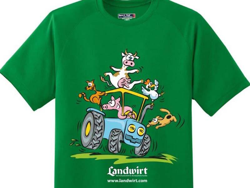 Kinder T-Shirt – Landwirt – Bedruckt
